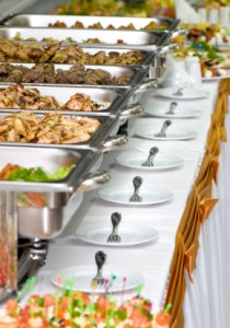 delicious buffet and plated dinners